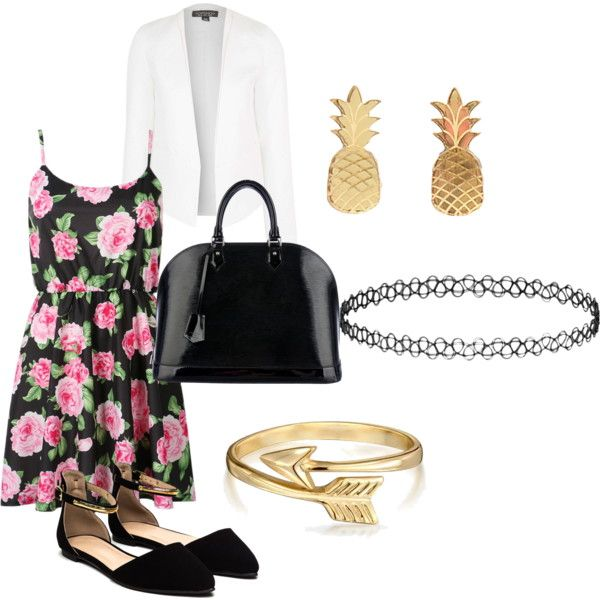dressy cute by marleyxwilliams on Polyvore featuring Topshop, Louis Vuitton, Vinca and Bling Jewelry