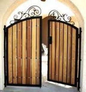 Iron And Wood Gates Design Iron Gates Entry Driveway