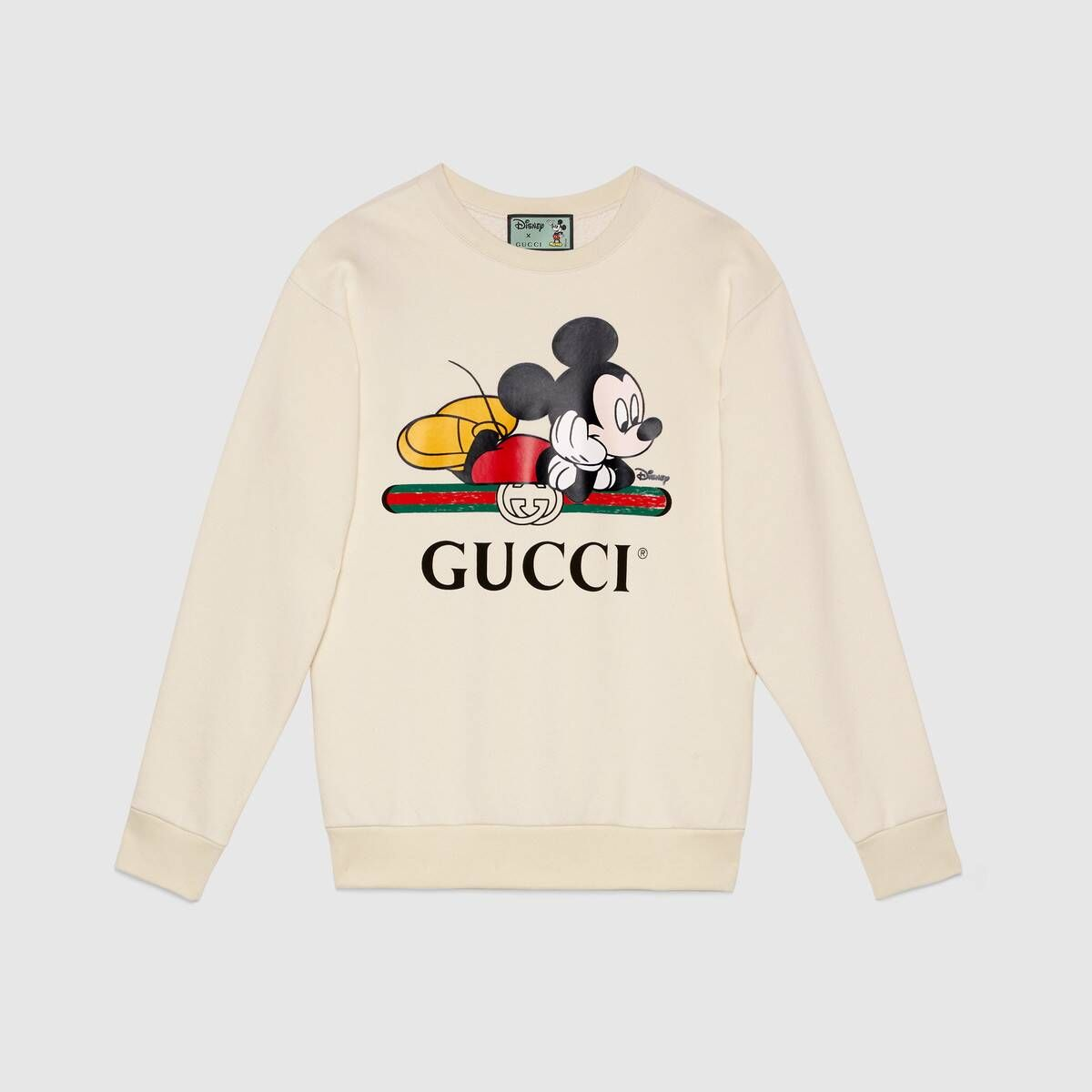 Shop The Disney X Gucci Oversize Sweatshirt In White At Gucci Com Enjoy Free Shipping And Complimentary Gift Sweatshirts Gucci Sweatshirt Oversized Sweatshirt [ 1200 x 1200 Pixel ]