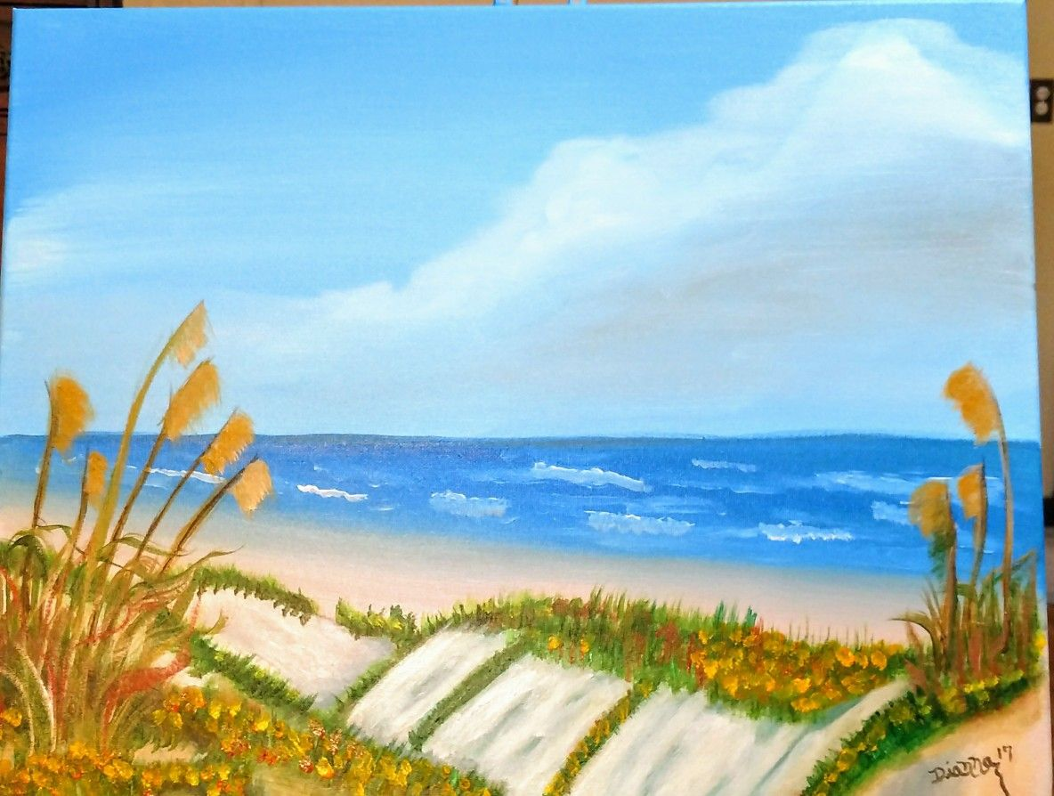 Inspired By The Sand Dunes Of South Padre Island 16x20 Inch