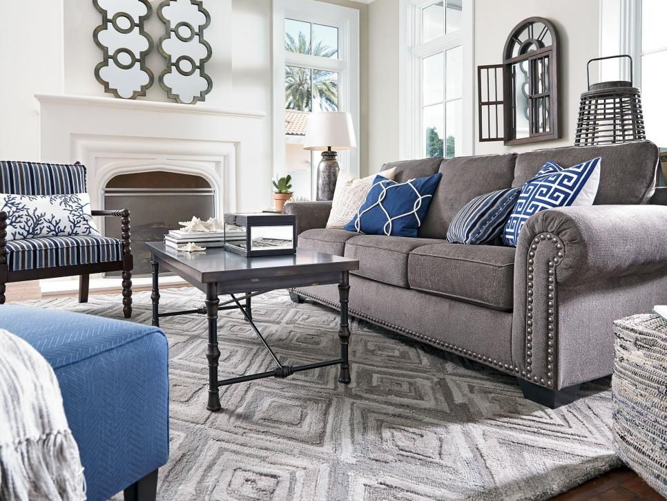 Rooms Viewer Grey Couch Living Room Blue Grey Living Room Living Room Grey