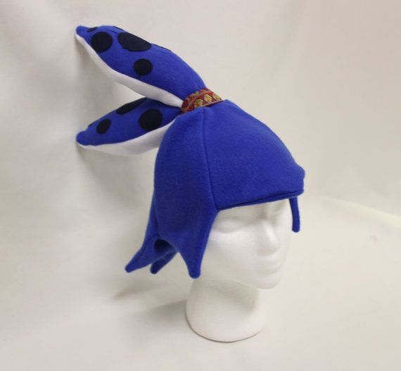 Royal Blue Inkling Boy Squid Splatoon Fleece Hat By CosplayHats