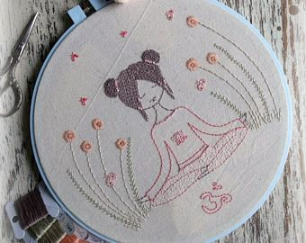 meditation embroidery pattern PDF