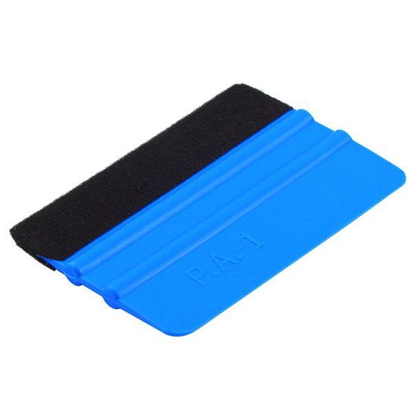 Neue 1 Stücke Rakel Car Film Werkzeug Vinyl Blau Kunststoff Scraper Rakel Mit Weichem Filz Rand Fensterglas Aufkleber Applikator