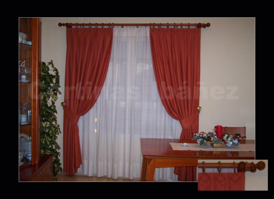 Cortinas clasicas cortinas dobles de visillos for Visillos confeccionados