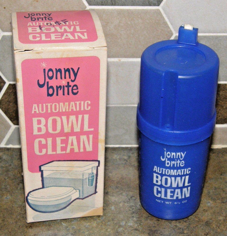 Vtg Jonny Brite Toilet Bowl Cleaner Unused In Original Box Advertising Package Jonnybriteautomatictoiletcleaner With Images Toilet Bowl Toilet Bowl Cleaner
