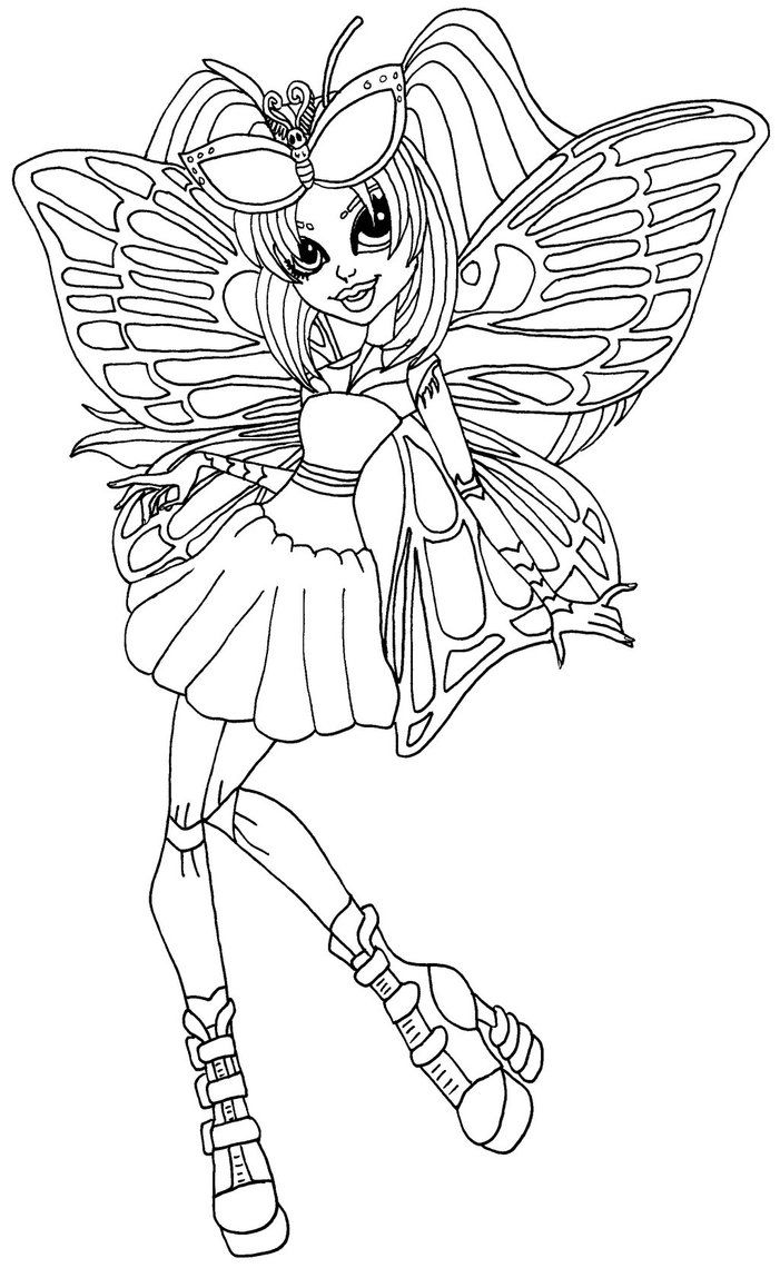 Luna Mothews Monster High Pictures Mermaid Coloring Pages Monster High