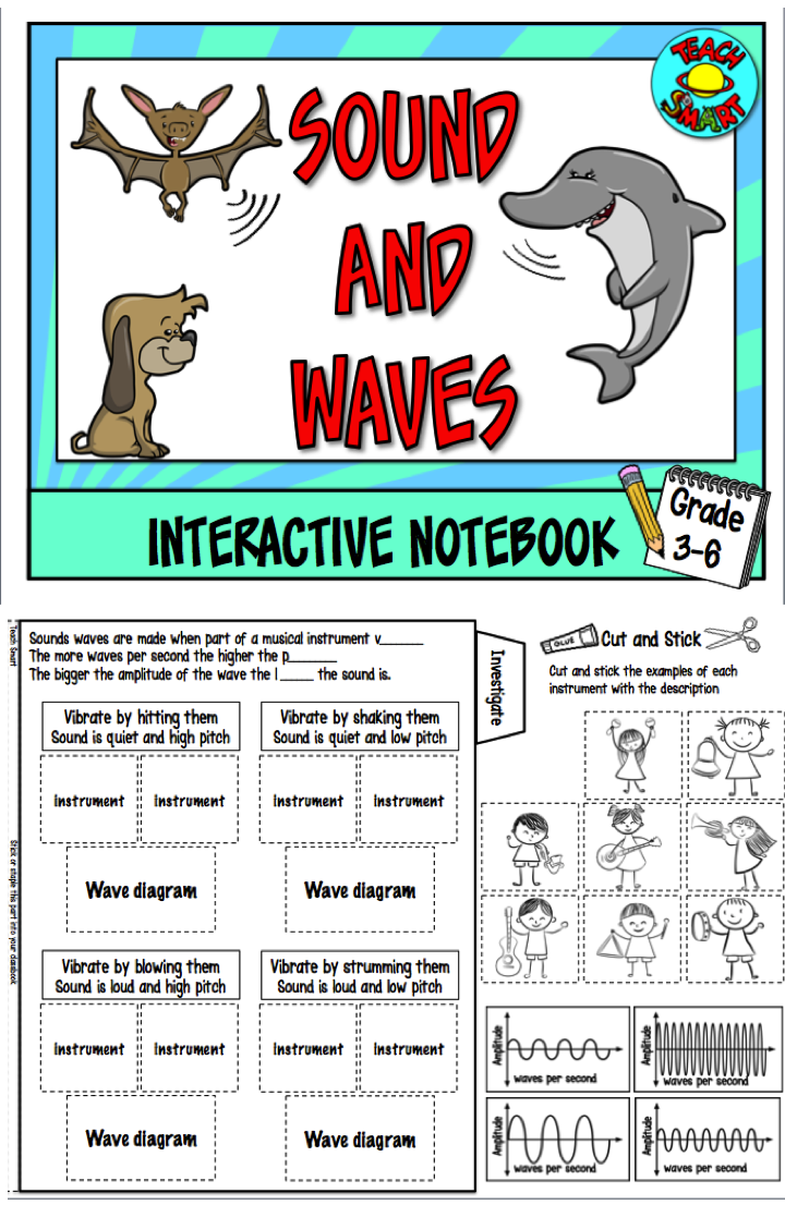 Sound and waves Interactive Notebook Interactive