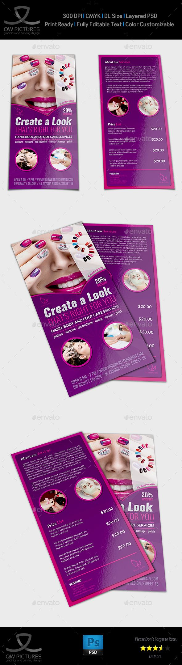 nail salon flyers