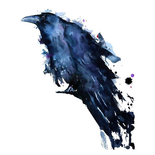 Great Watercolor Raven Tattoo Design Raven Tattoo Watercolour