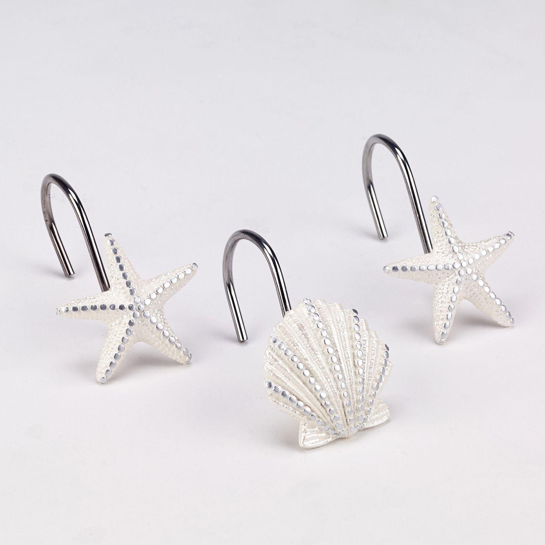 Sequin Shells Shower Hooks
