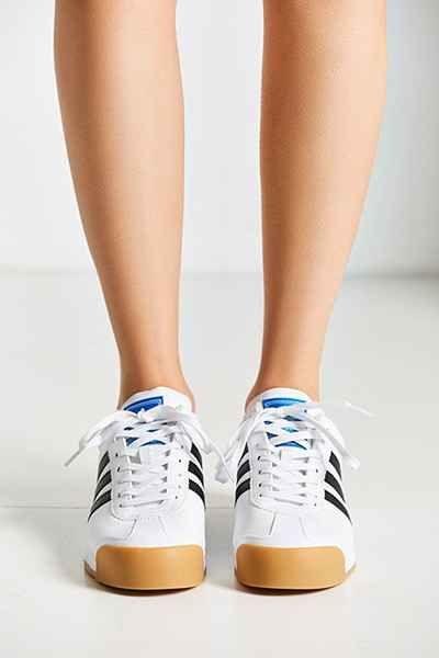 adidas Originals Samoa Perforated Gum Sole Sneaker in White