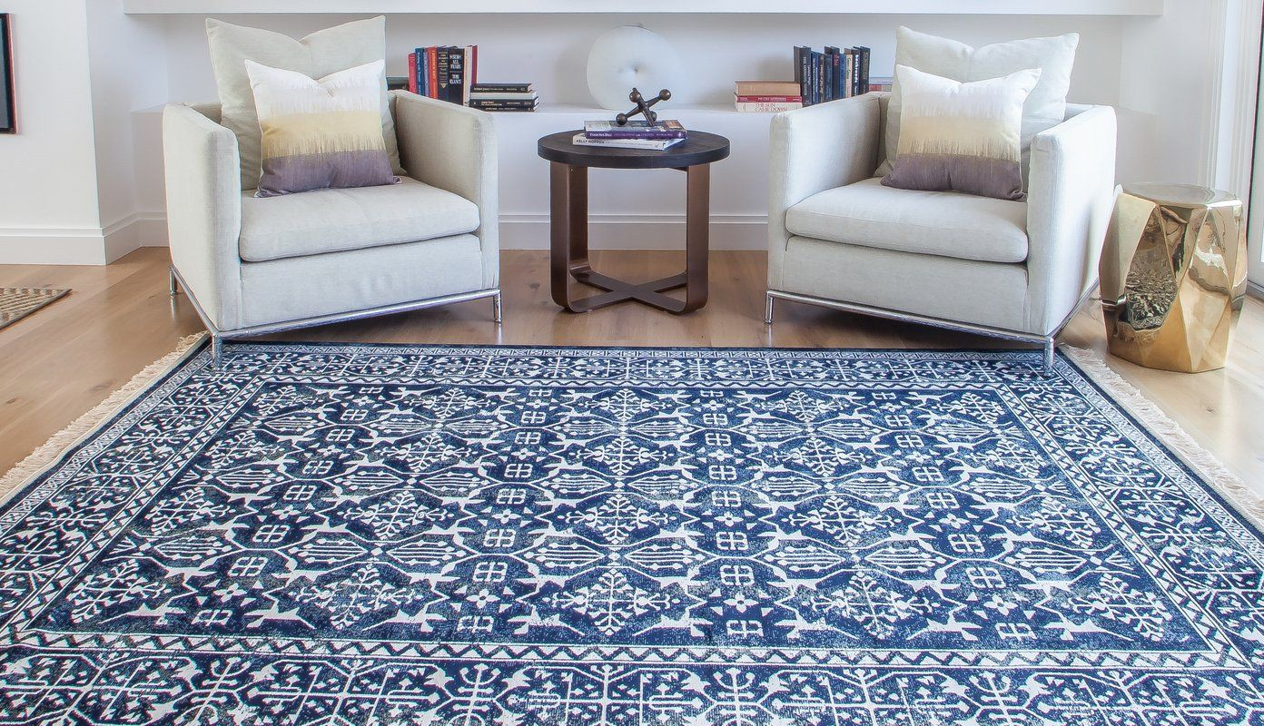 Beecroft Southwestern Navy Blue White Rug Blue And White Rug Rugs White Area Rug