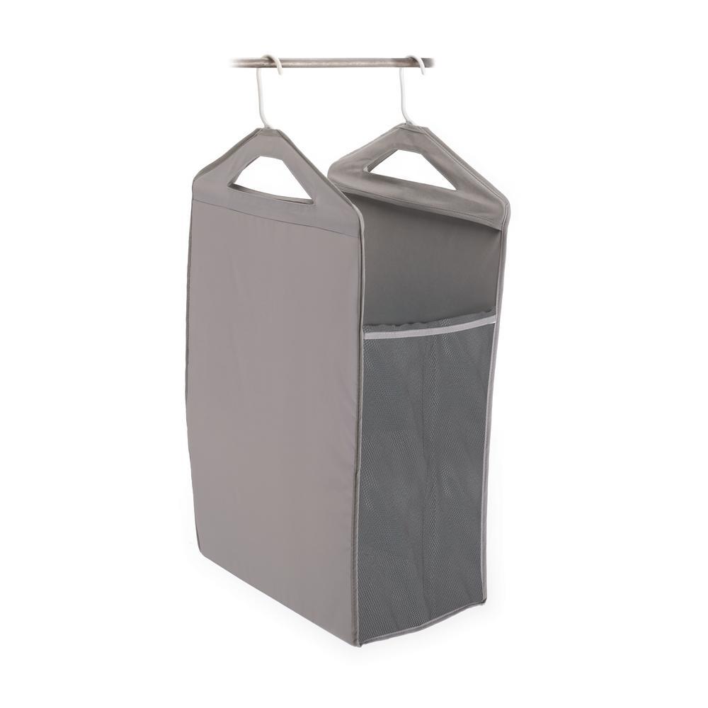 Homz Hanging Closet Hamper In Gray 4506037ec 01 Hanging Closet