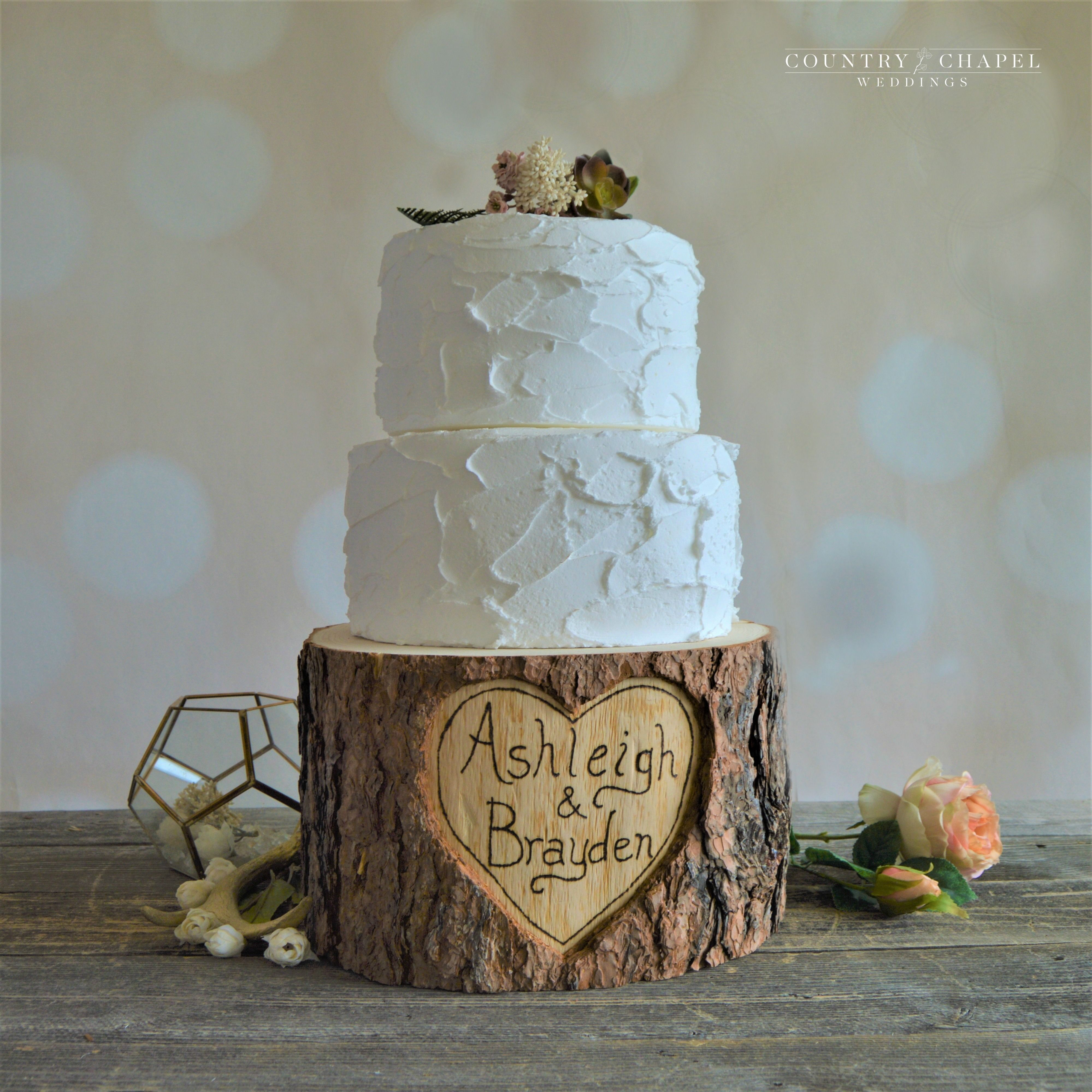 Personalized Heart in Tree Cake Stand - 10 | Pinterest | Weddings ...