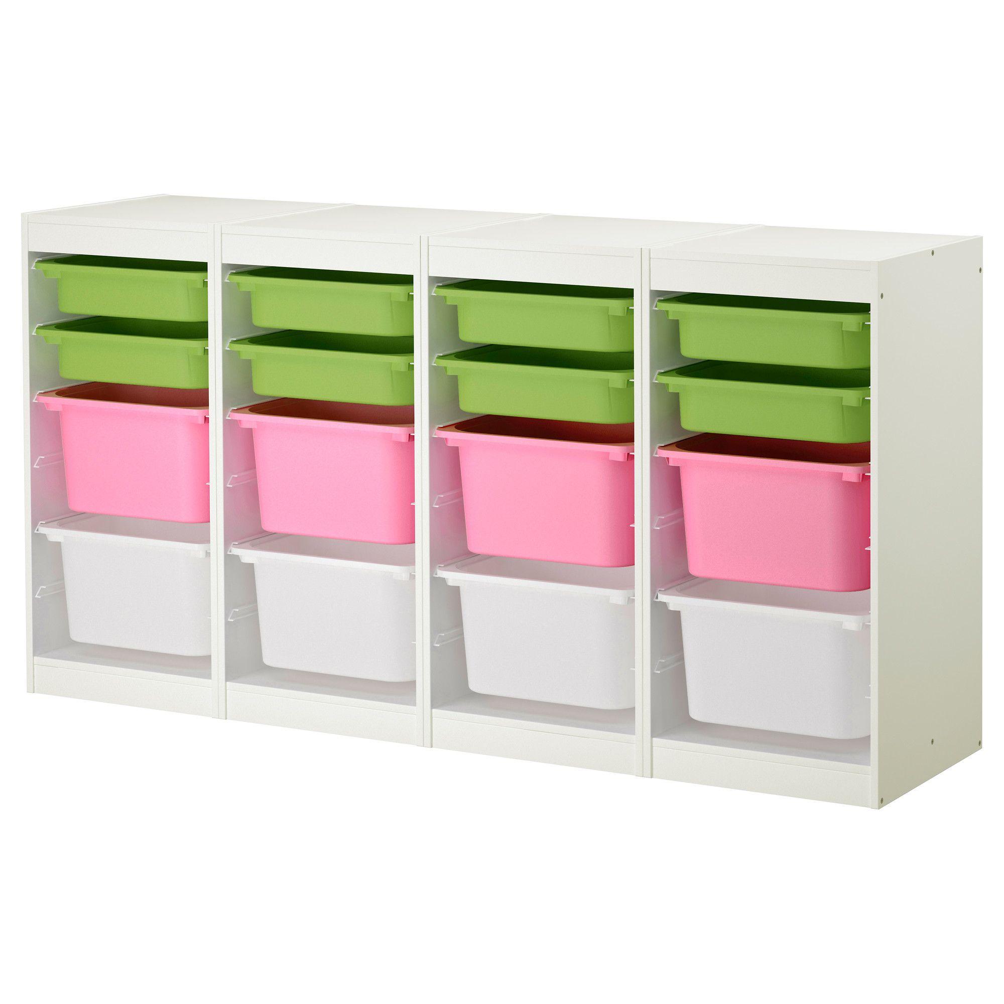 Trofast Combinaison De Rangement Blanc Multicolore Meuble De  # Meuble De Rangement Ikea