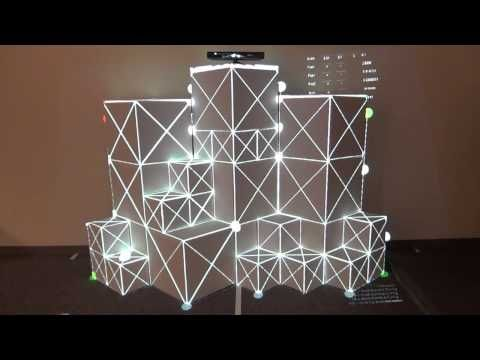 Interactive Cubes 3D Projection Mapping with Kinect demo