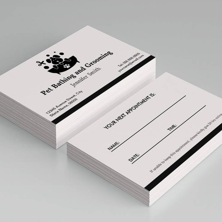 Pet Bathing and Grooming - Appointment Business Card Template ...