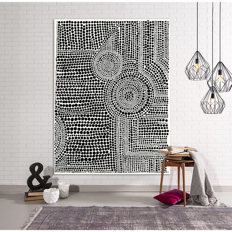 Clustered Dots A by Natasha Marie - Wrapped Canvas