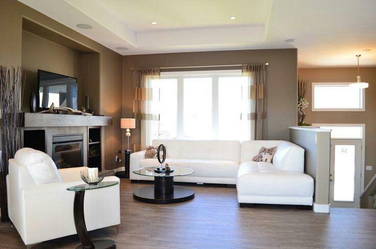 Bi Level Home Living Room Remodel Love The Half Wall Separation Idea