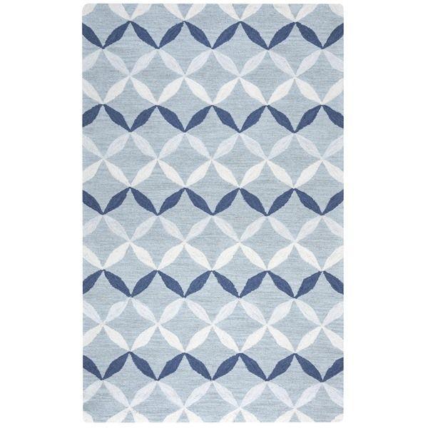 arden loft easley meadow blue grey geometric handtufted wool area rug 10