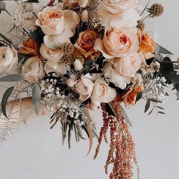 Top 20 Rust Sunset Dusty Orange Wedding Bouquets for Fall