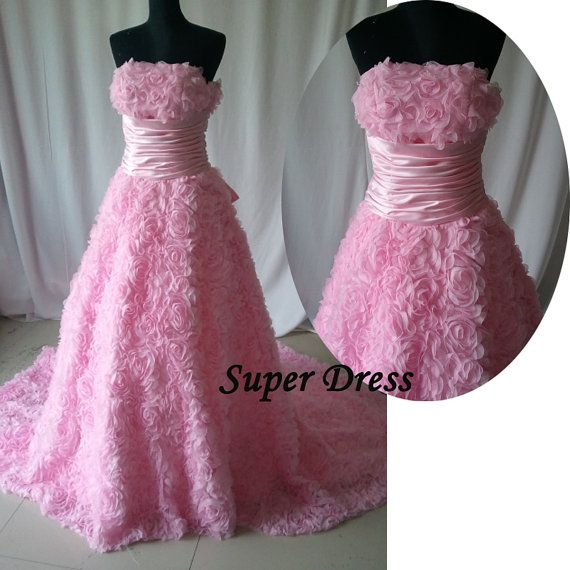 Fashion Pink Romantic Rose Prom Dress A line by SuperDressFactory, $199.00