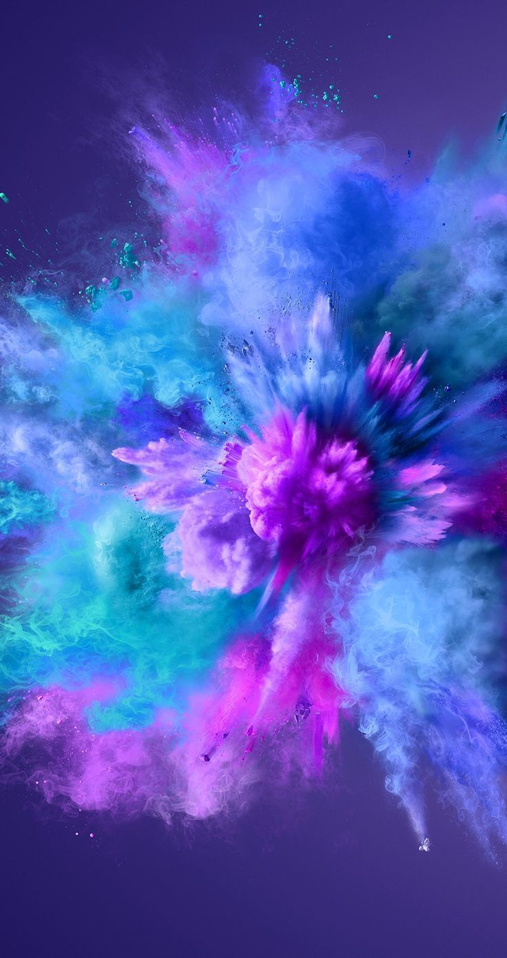 purple / green blue powder explosion photo action shot