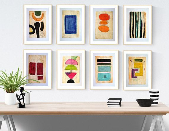 Book Sides Abstract Painting By Jolina Anthony Colorful Wall Art Abstract Painting