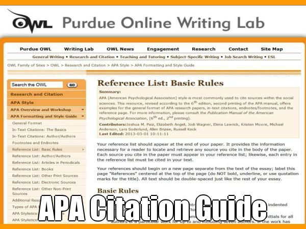 From The Owl At Purdue Image Using Pinstamatic Writing Lab Online University Citing Sources Apa Paraphrasing