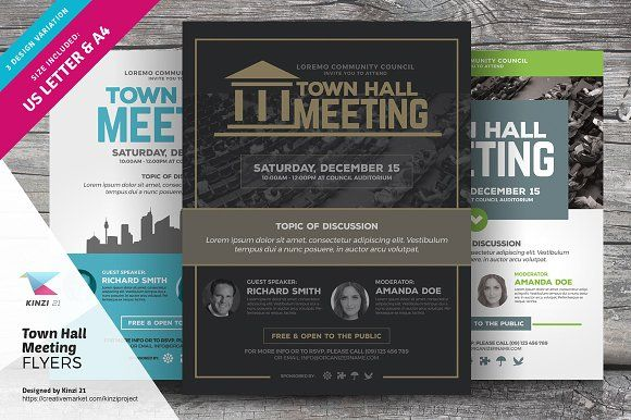 Town Hall Meeting Flyer Bundle Flyer Template Template And Event
