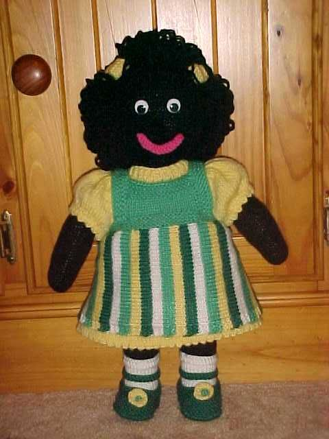 Marlene The Golly Knitting Pattern Golliwogs Pinterest