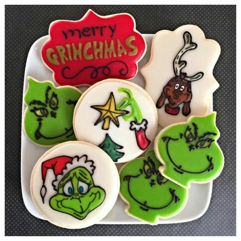 Amy Thornton The Grinch Cookie Assortment Christmas Decorated