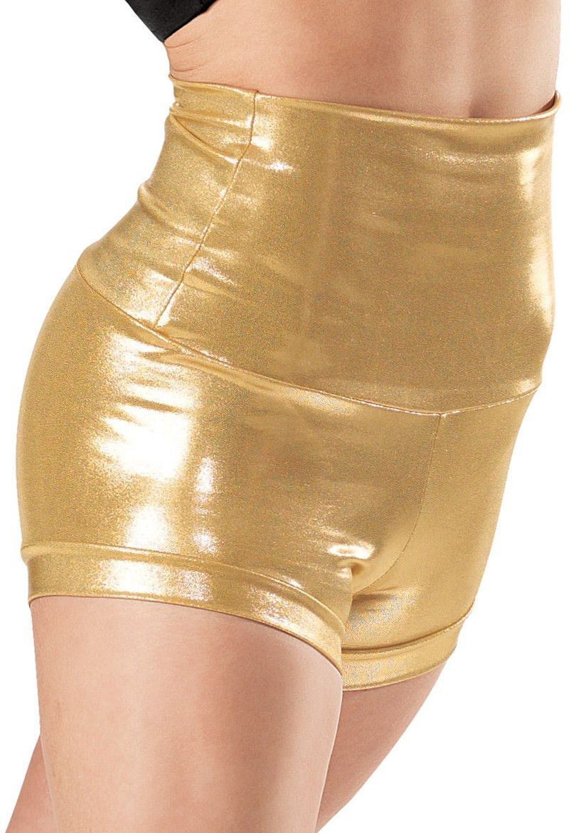 Plus Size Adult Silver Metallic Shorts Rave Booty Shorts High ...