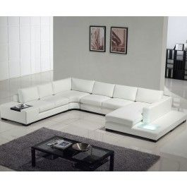 Ultra Modern Sectional Sofa With Built In Light Modern Furniture