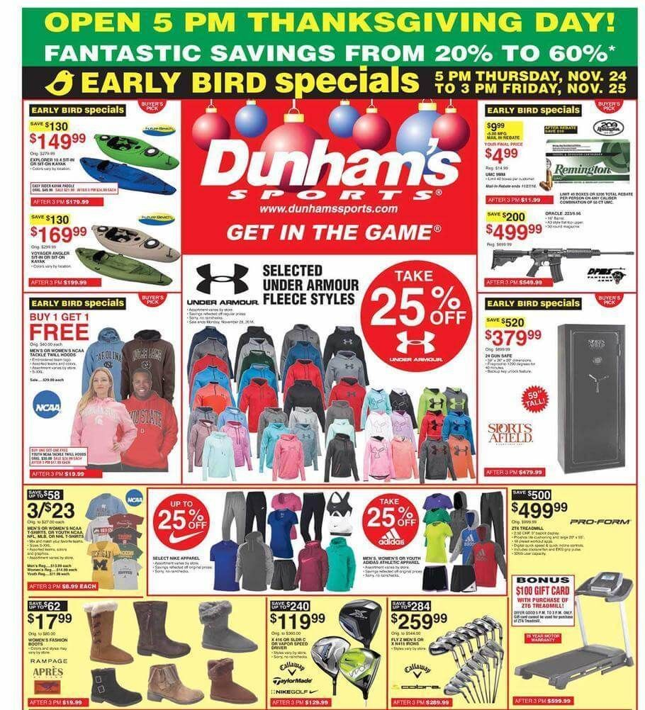 photo relating to Dunhams Coupons Printable identified as dunhams flyers -