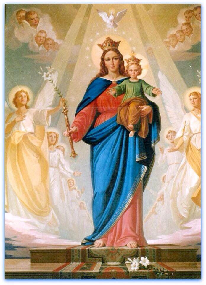 La Virgen María Y El Niño Jesús Mari Auxi
