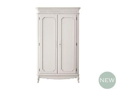 provencale dove grey wardrobe 2 doors armoires and. Black Bedroom Furniture Sets. Home Design Ideas