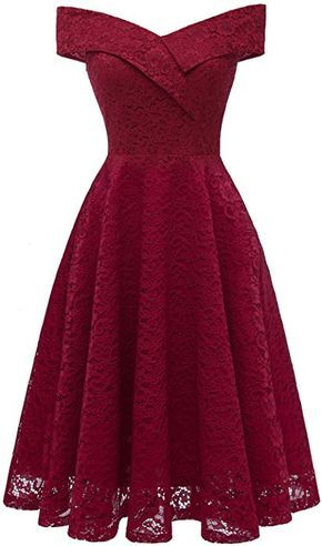 Laorchid Womens Lace Princess Dress Swing Cocktail Evening