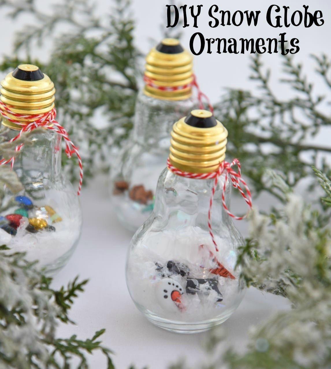 DIY Snow Globe Ornaments (With images) Diy snow globe