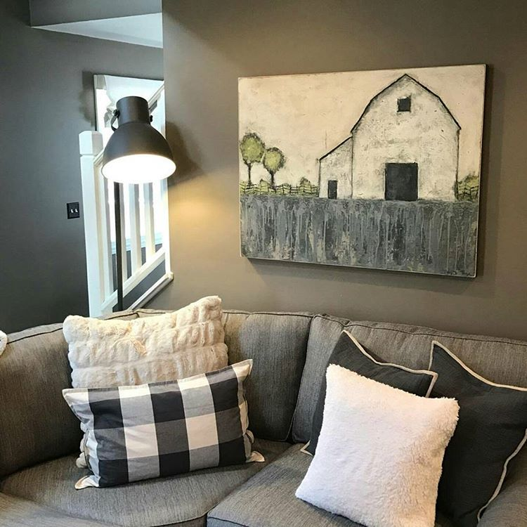 """Mary DeMaagd on Instagram: """"One my paintings in a customers beautiful home!"""""""