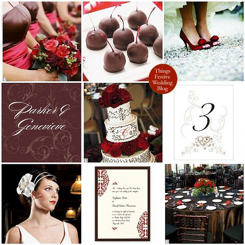 Red Brown Wedding Theme September All From Theknot Chocolate Covered Cherries