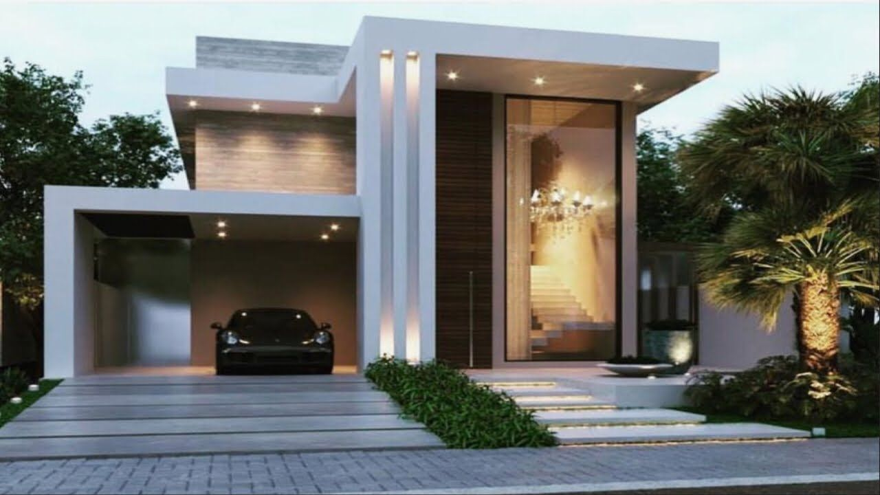 Beautiful Modern House Front Elevation Design Double Floor House 1 Floor House Elevation Youtube Modern Exterior House Designs Facade House House Styles,Screened Porch Plans Designs