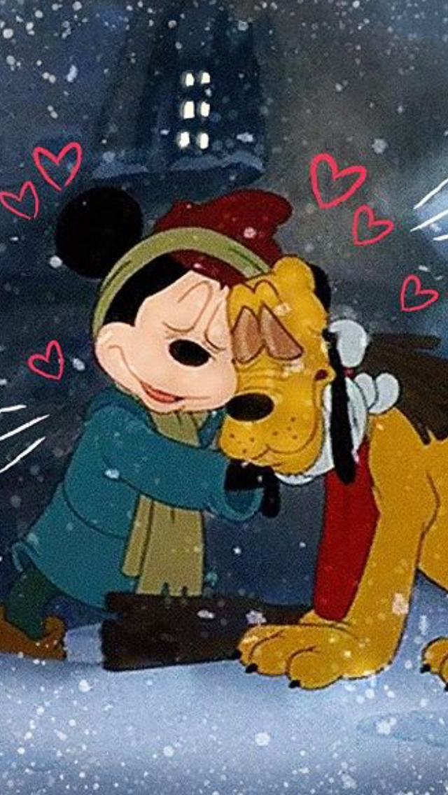 Mickey Mouse Once Upon A Christmas.Mickey Pluto Hugging As They Star In Mickey S Once Upon A