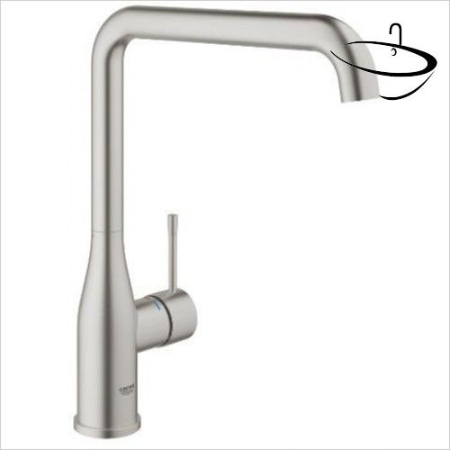 Grohe Kitchen Mixer Taps - Essence Plus Single-Lever Sink Mixer 1/2 ...