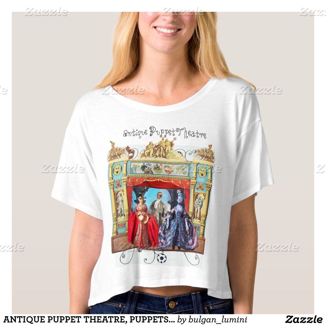 ANTIQUE PUPPET THEATRE, PUPPETS IN MASQUERADE TEES