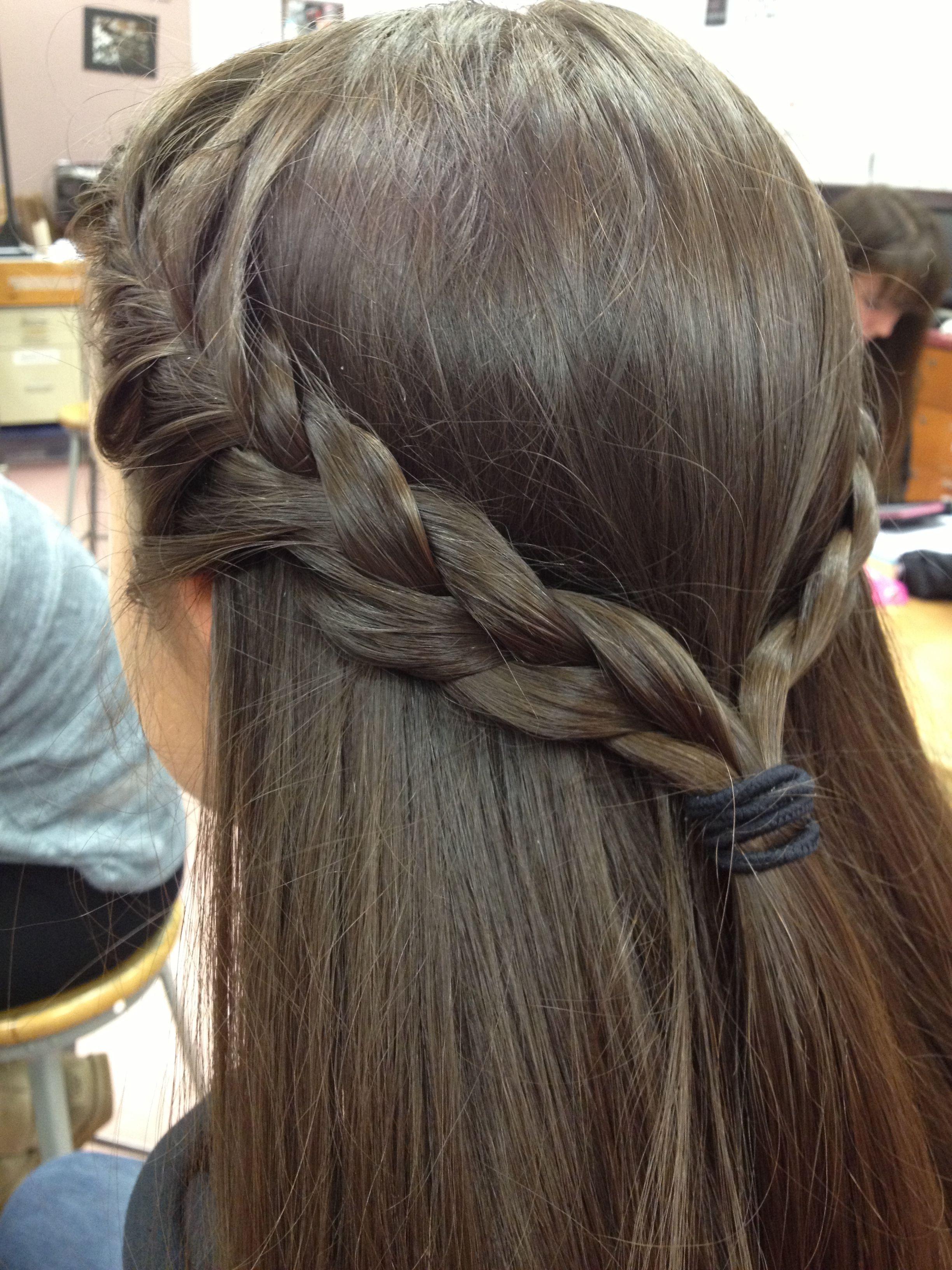 French Braid Into Half Up Half Down Hair Beauty Hair Styles Hairdo