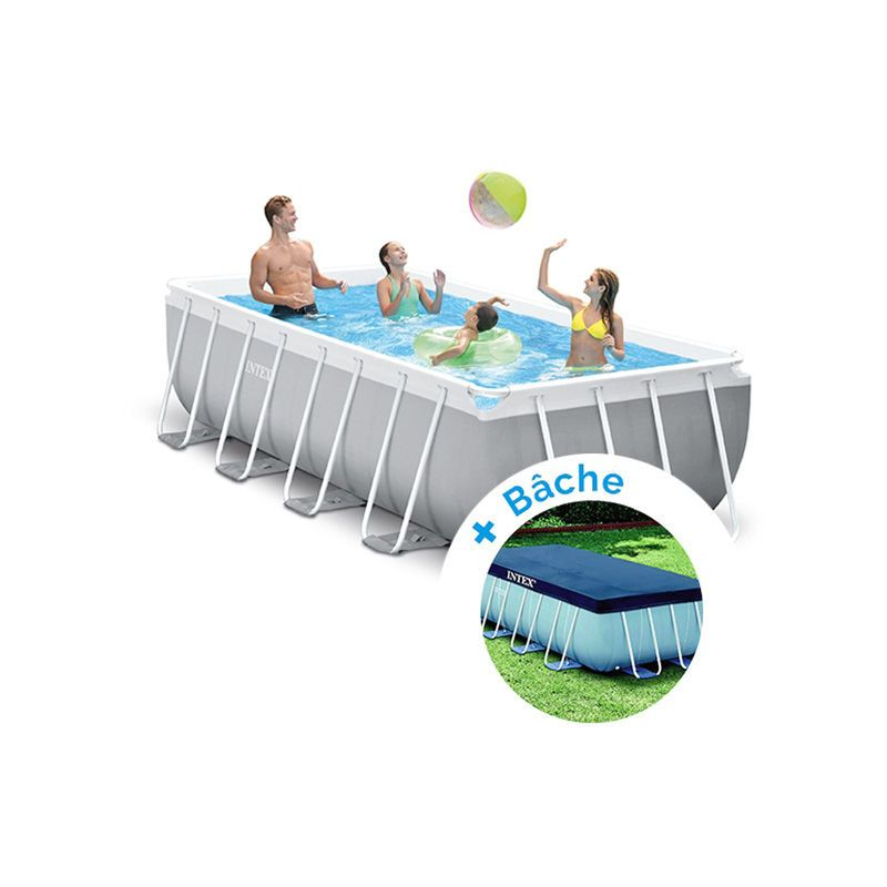 Pack Piscine Tubulaire Intex Prism Frame 4 00 X 2 00 X 1 00 M