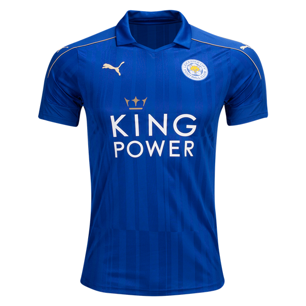 Leicester City 16 17 Home Soccer Jersey Check Out The Latest British Premier League Soccer Jerseys And Your Favourite Clubs Apparel F World Soccer Shop Premier League Soccer British Premier League