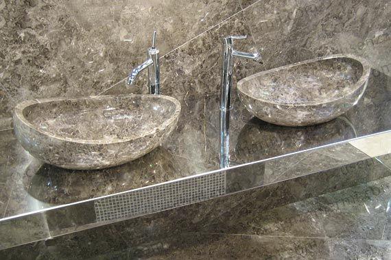lavabi in pietra grigio billiemi d\'appoggio per il bagno   Bath ...